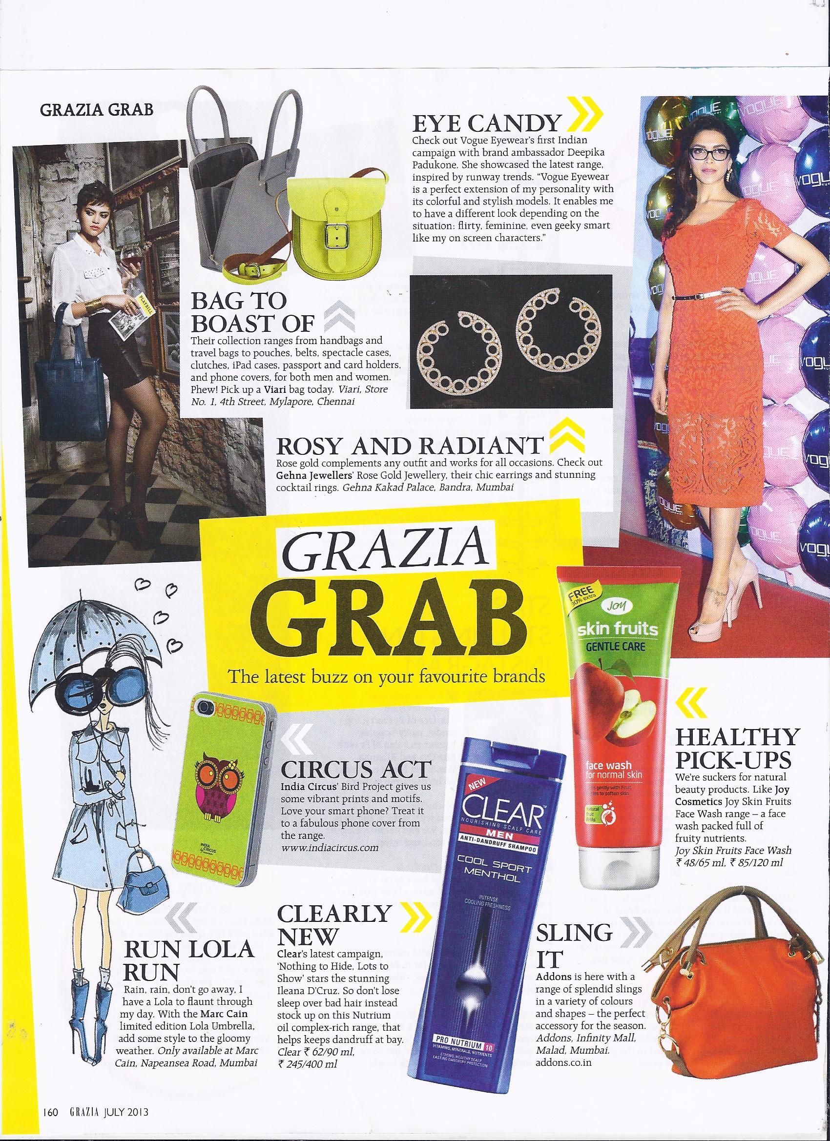 India Circus featured in Grazia magazine