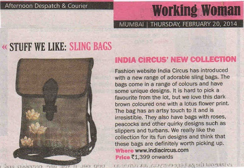 India Circus featured in Afternoon Dispatch and Courier