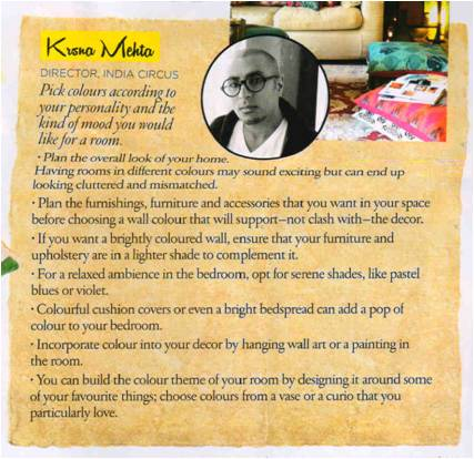 Krsna Mehta Home Decor Tips in Architectural Digest