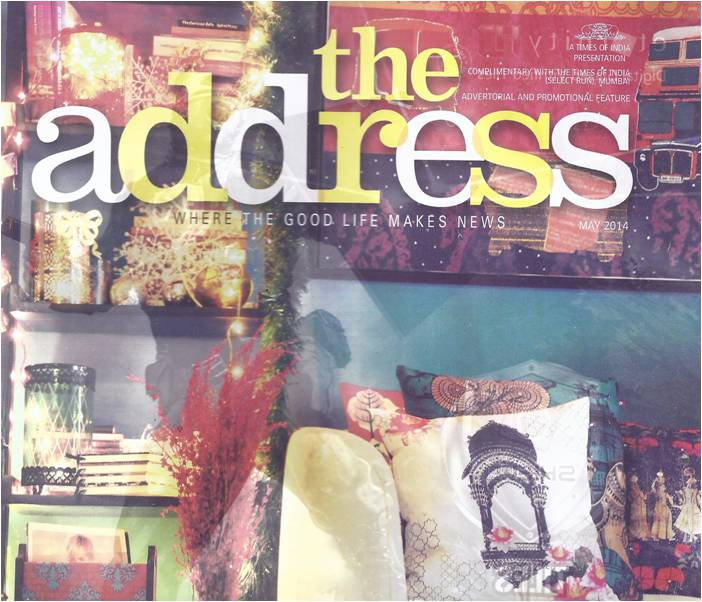 India Circus products on The Address cover page by TOI
