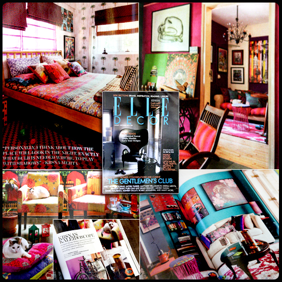 A glimpse of Krsna Mehta's residence featured in Elle Decor