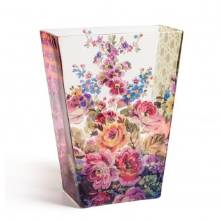 Painter's Rhapsody Of Flowers Glass Vase
