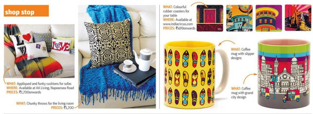 India Circus Mugs and Coasters in Midday