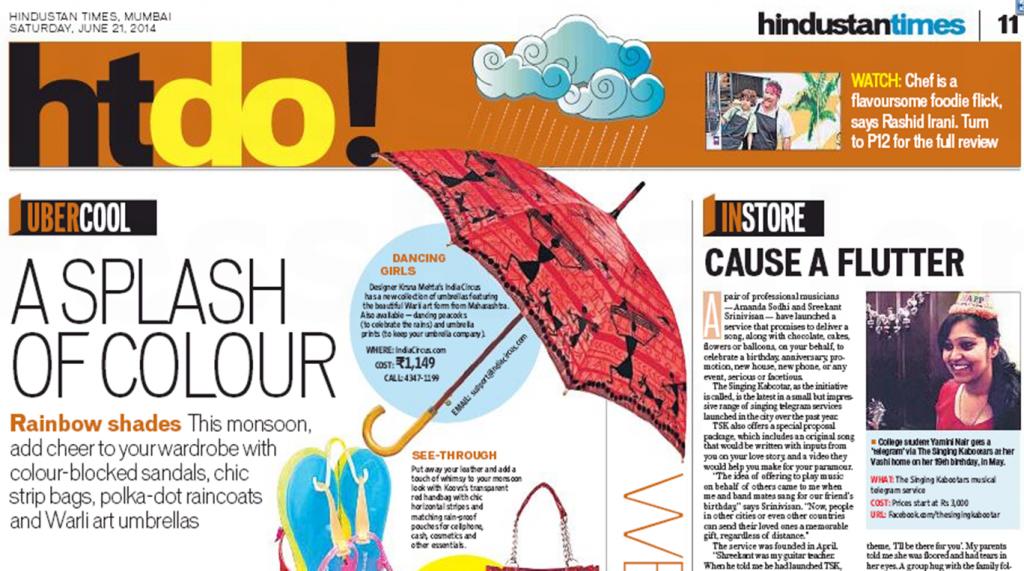 India Circus Umbrellas in HT DO!
