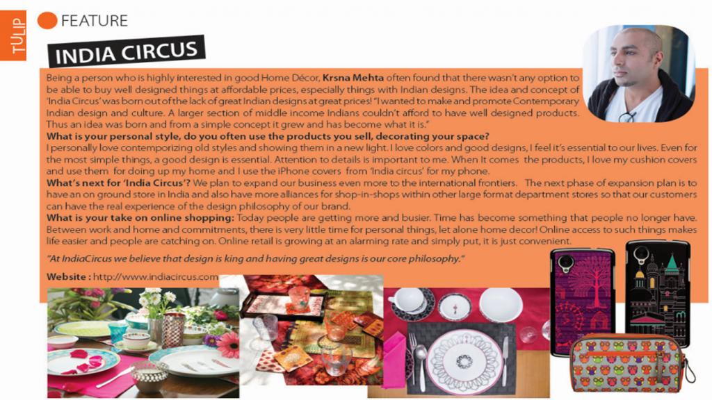 Krsna Mehta talks to Tulip Magazine